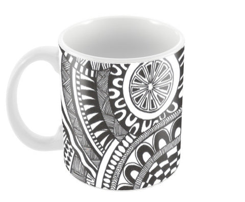 Prints in Circles Coffee Mugs | Artist : Aniket Mitra