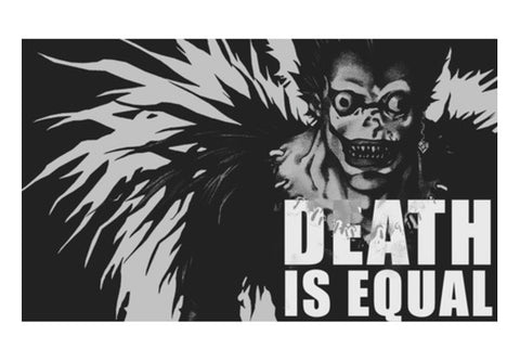 death note poster death is equal Wall Art  | Artist : Shantanu Kumar