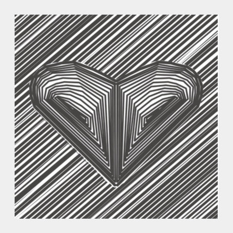 Square Art Prints, heart hart heart Square Art Prints | Artist : sourabh tiwari, - PosterGully