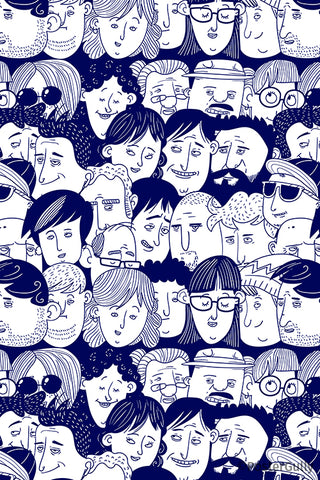 People Pattern Artwork