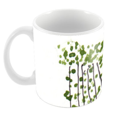 Green Curtain Coffee Mugs | Artist : Manas Arvind
