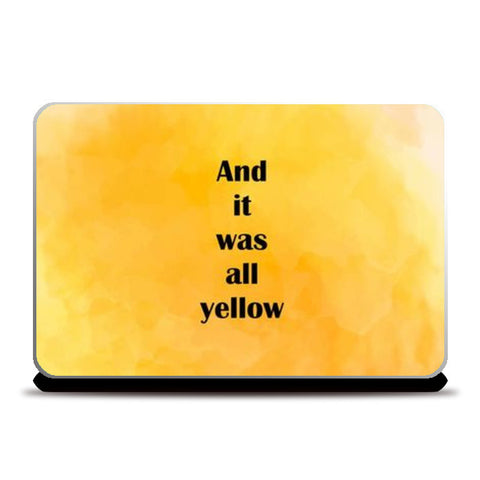 COLDPLAY : YELLOW Laptop Skins | Artist : Kau.Vish