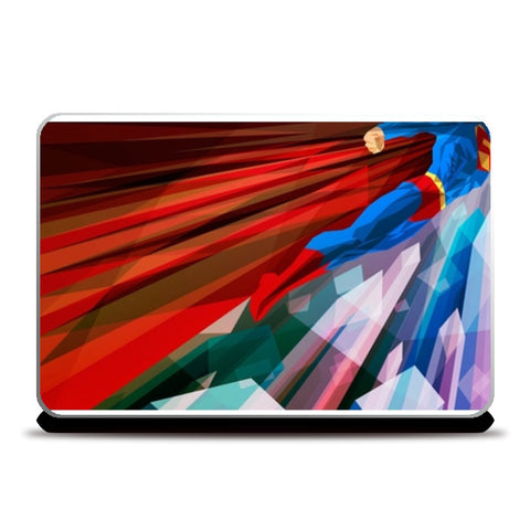 superman abstract Laptop Skins | Artist : akash biyani | Special Deal - Size 14.1""