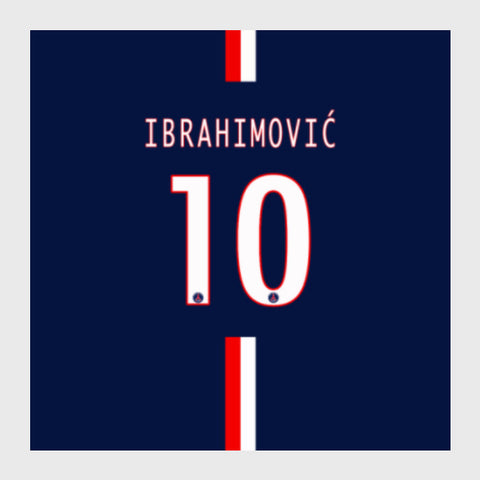 Square Art Prints, Zlatan Lbrahimović instead 10 Artwork | Artist: GS, - PosterGully