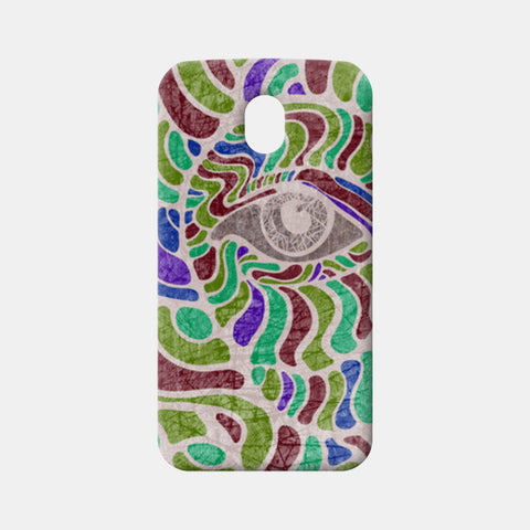 abstract eye colorful vector illustration Moto G3 Cases | Artist : Simran Sain