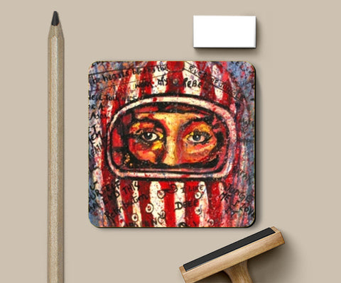 Helmet love Coasters | Artist : the scribble stories