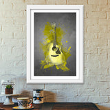 Guitar Splash – Yellow Premium Italian Wooden Frames | Artist : Darshan Gajara's Artwork