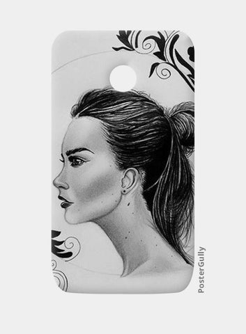 black and white Moto E Cases | Artist : Arathy Nair