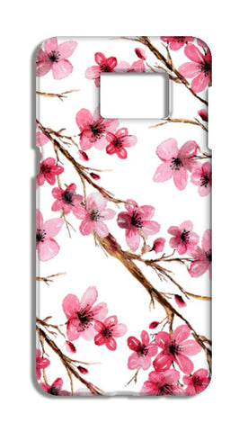 Elegant Pink Cherry Blossoms Design Floral Pattern Samsung Galaxy S6 Edge Plus Cases | Artist : Seema Hooda
