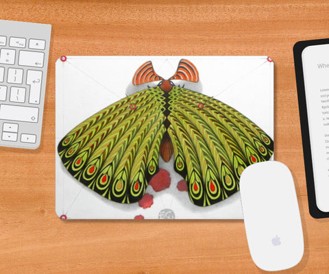 Mousepad, green moth Mousepad | Artist : federico cortese, - PosterGully