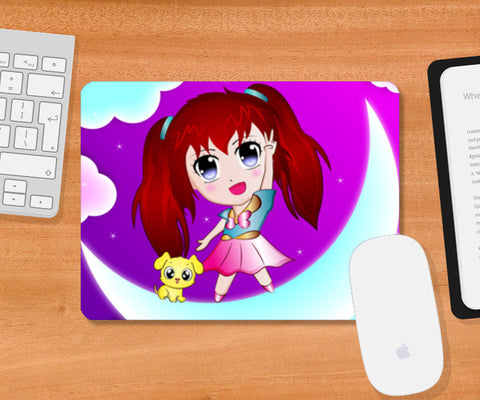 Mousepad, Little Girl Mousepad | Artist : Madhumita Mukherjee, - PosterGully
