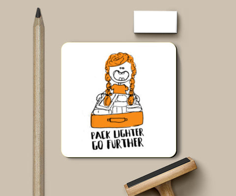 Pack Lighter Go Further Coasters | Artist : Garima Shukla