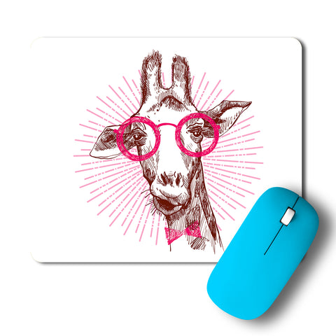 Geek Giraffe Artwork Mousepad