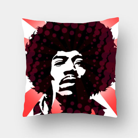 Cushion Covers, Jimi On Acid Cushion Cover | Artist: Athul Menon, - PosterGully