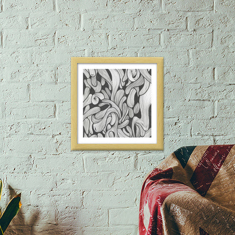 abstract doodle Premium Square Italian Wooden Frames | Artist : Raj Patel