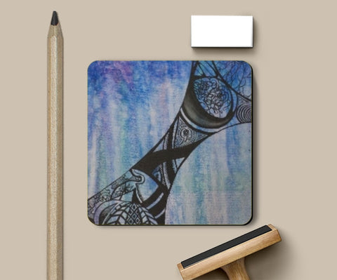 Coasters, Abstract Blue Coaster | Artist: Rithikha Kalidos, - PosterGully