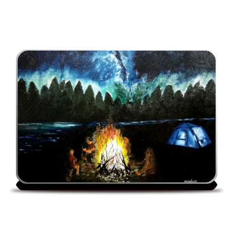 Wanderlust : Camping under the beautiful sky Laptop Skins | Artist : Mohor