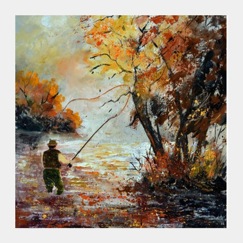 Square Art Prints, Fishing 67 Square Art Prints | Artist : pol ledent, - PosterGully