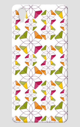Flowers Retro Shapes Geometric Pattern On Multicolor One Plus X Cases | Artist : Designerchennai