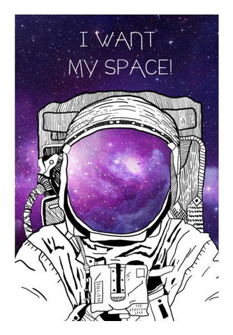 PosterGully Specials, SPACE MAN! Wall Art | Artist : DISHA BHANOT, - PosterGully