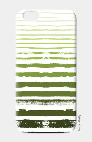 Uneven Green Stripes iPhone 6/6S Cases | Artist : Amantrika Saraogi