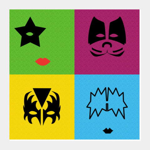 KISS Pop Art Square Art Prints | Artist : marika