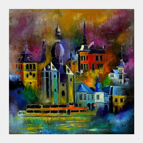 Square Art Prints, Magic city Square Art Prints | Artist : pol ledent, - PosterGully