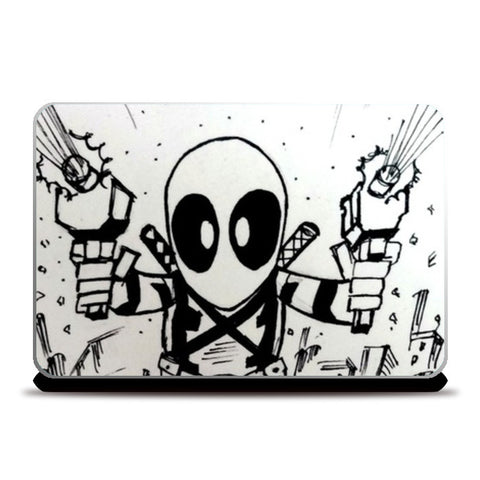 Laptop Skins, Chibi Deadpool Laptop Skins | Artist : Aastha Pruthi, - PosterGully
