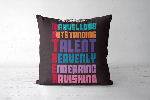 Marvellous meaning of mother typography Cushion Covers | Artist : Designerchennai