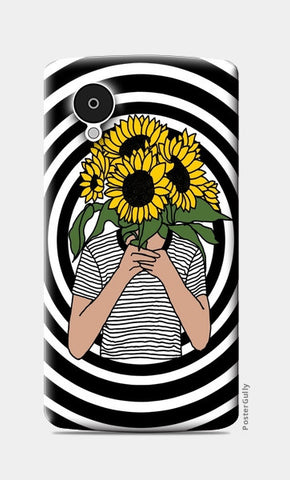 sunflower mono Nexus 5 Cases | Artist : Priyanka Paul