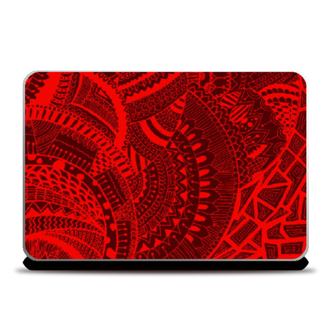 Laptop Skins, Red-Black doodle laptopskin|artist: Megha-Vohra, - PosterGully
