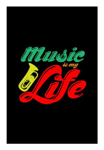 PosterGully Specials, Music is my life tyography Wall Art | Artist : Designerchennai, - PosterGully
