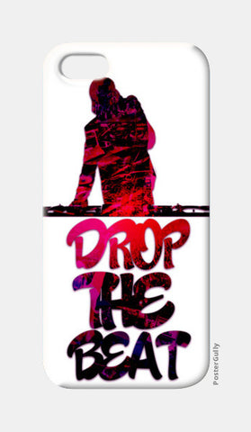 Drop The Beat white iPhone 5 Cases | Artist : Ajay Seth