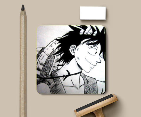 Coasters, Luffy One Piece Coaster | Artist: Aastha, - PosterGully