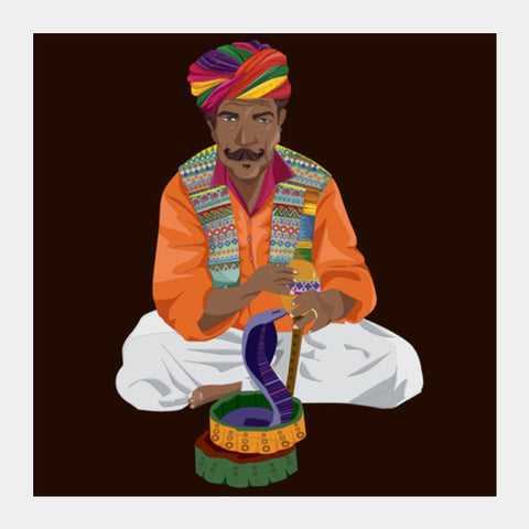 The Charmer Square Art Prints | Artist : Binoodha Sasi
