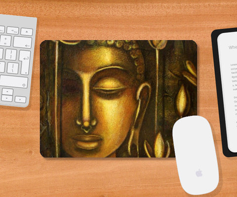 Mousepad, golden buddha Mousepad | Raji Chacko, - PosterGully
