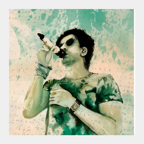 Farhan Aktar | Watercolor | Painting Square Art Prints | Artist : Sandeep Narayan