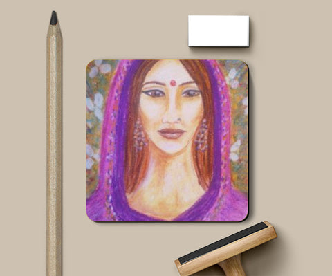 Coasters, Indian woman Coaster | artiste : Lalitavv, - PosterGully