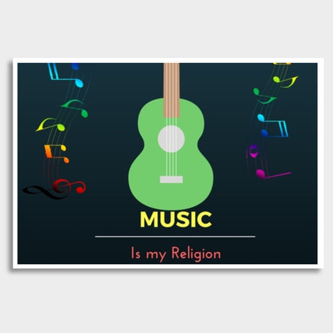 Music is my Religion Giant Poster | Artist : Pallavi Rawal