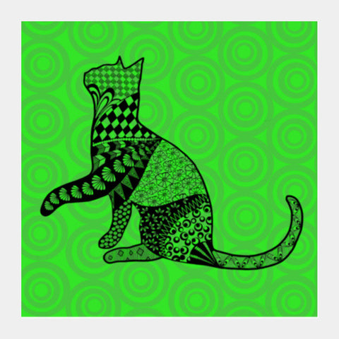 Bela the cat Square Art Prints | Artist : Animal kingdom