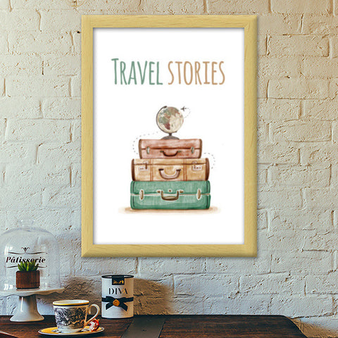 Travel stories Premium Italian Wooden Frames | Artist : Colour me expressive
