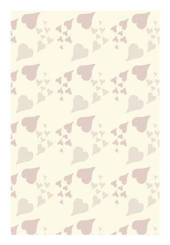 Abstract Retro Hearts Pattern Art PosterGully Specials