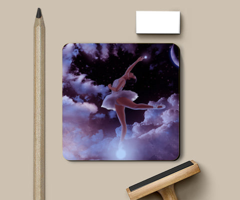 Reach the Stars Coasters | Artist : Adeeba Ifrah