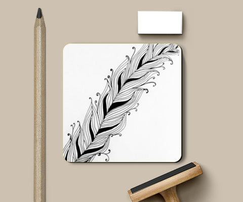 Coasters, Doodle Feather Coasters | Artist : Oodles of Doodles | Purvi, - PosterGully
