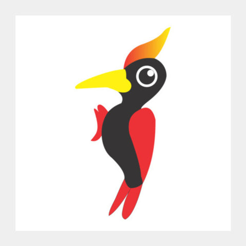 Woodpecker Square Art Prints | Artist : Nisha Prabhu