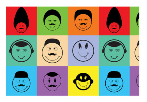 Funny Face Colorful Character Art PosterGully Specials