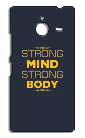 Strong Mind Strong Body Nokia Lumia 640 XL Cases | Artist : Designerchennai