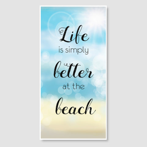 Life at beach Door Poster | Artist : Not Just Doodle