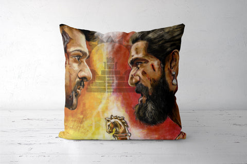 Baahubali Rage Cushion Covers | Artist : Draw On Demand