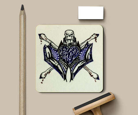 Coasters, Heart n Skull Tattoo coasters | Artist: Abhinav Moona, - PosterGully